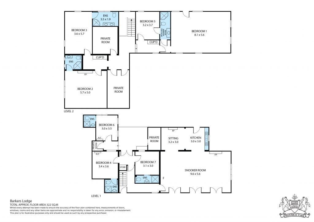 Bakers Lodge Floor Plan
