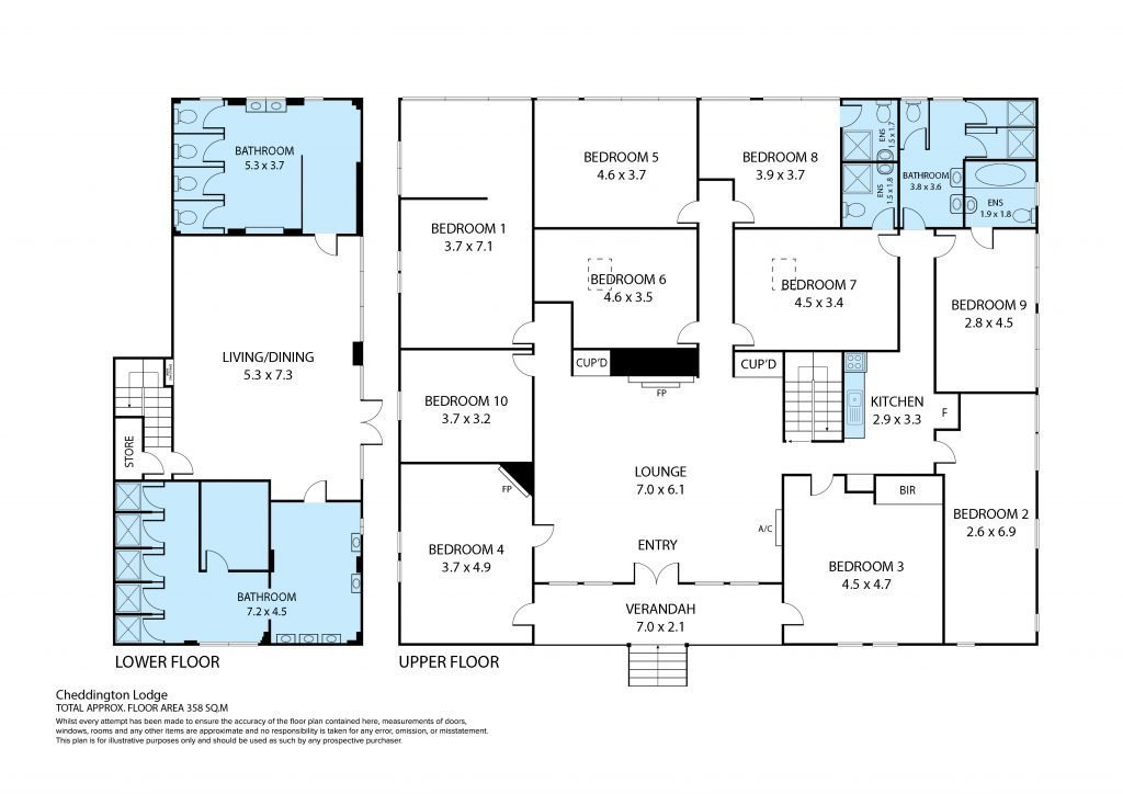 Chedddington Lodge Floor Plans