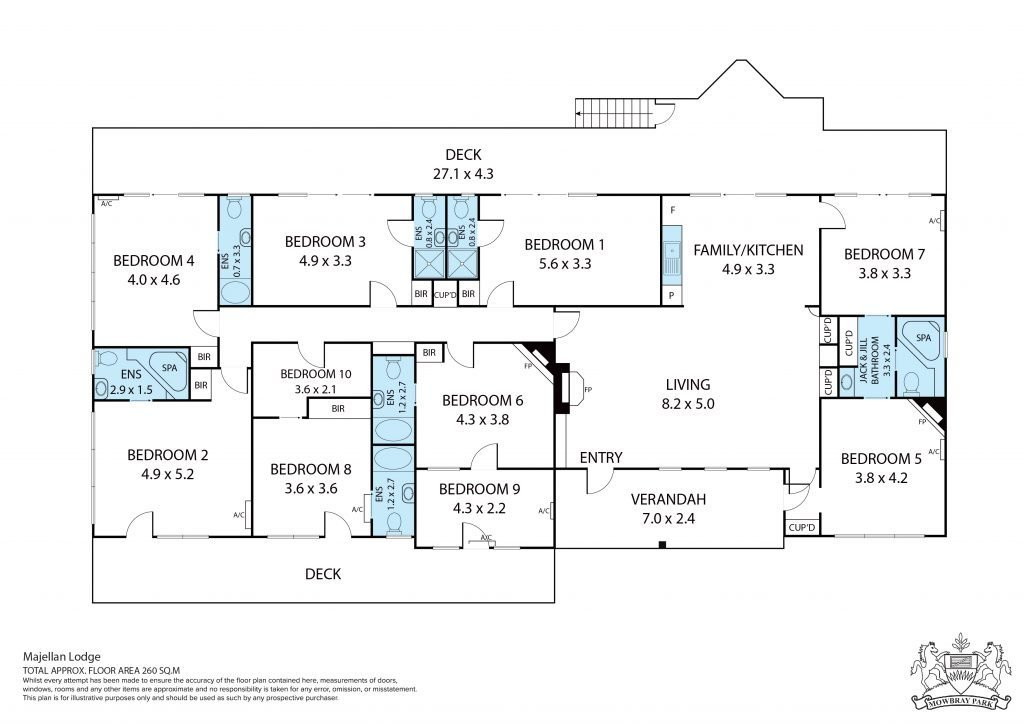 Majellan Lodge Floor Plans